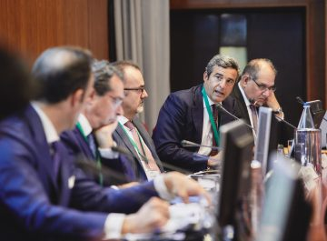President of Italferr, Riccardo Monti, and the full panel