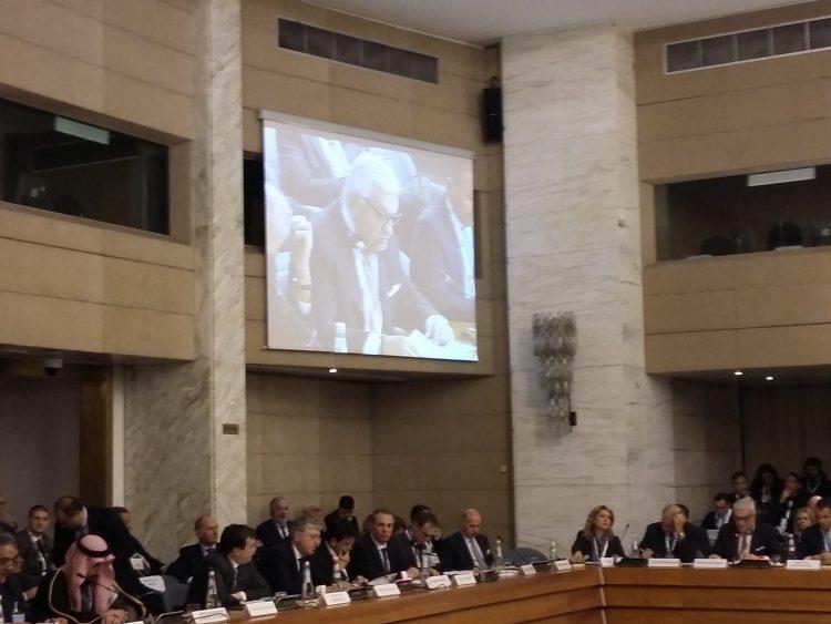 Il Presidente della JIAC, Cesare Trevisani, interviene nel corso del Business Forum Italo Saudita del 4 dicembre alla Farnesina