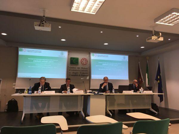 UAE: la JIACC ieri a Padova