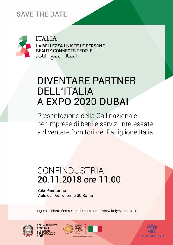 Diventare Partner dell'Italia ad Expo 2020 Dubai